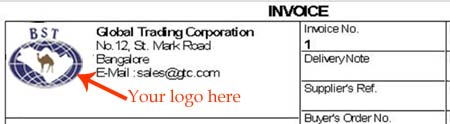 logo printing in tally