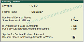 multi currency in tally